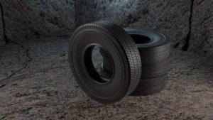 タイヤとホイールが4本残されていた。
