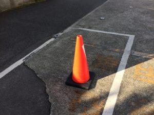 日によって変るワゴンとラパンの違法駐車を撃退した。